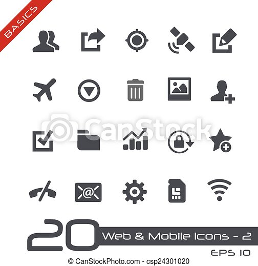Web & Mobile Icons-2 // Basics - csp24301020