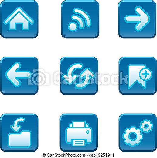 Web navigation buttons set - csp13251911