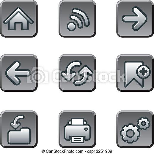 Web navigation buttons set - csp13251909