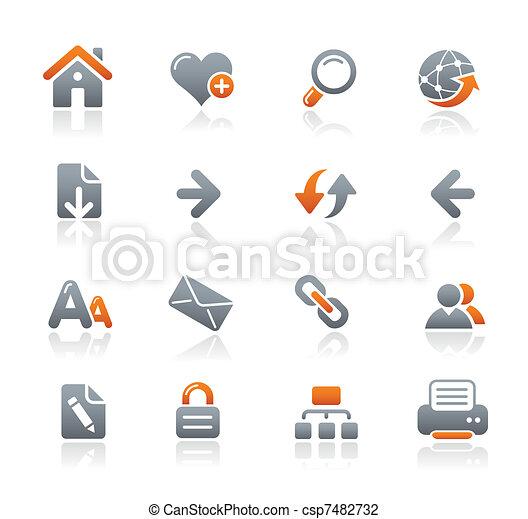 Web Navigation Icons / Graphite - csp7482732