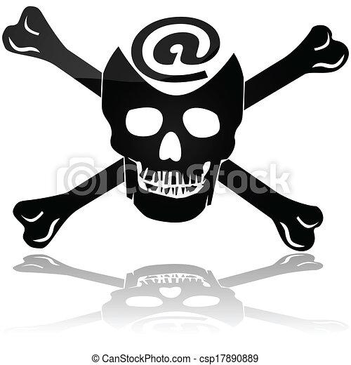 Web piracy - csp17890889