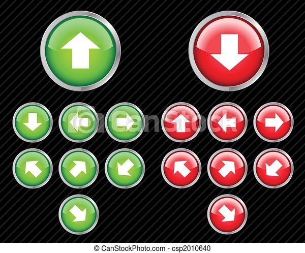 web, richtung, satz, aqua, bearbeiten, irgendein, tasten, vektor, leicht, arrows., size., 2.0, style. - csp2010640