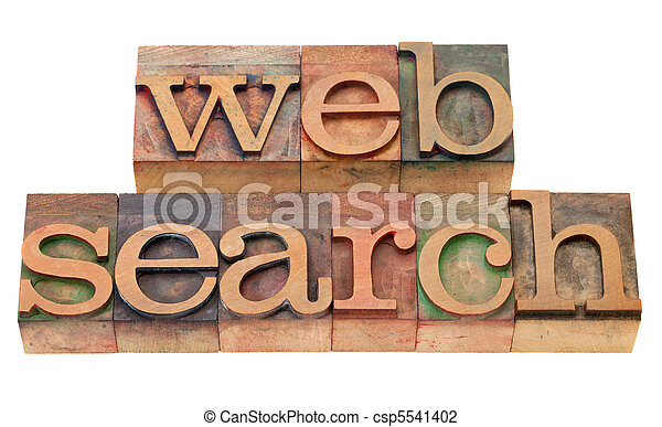 web search - words in wood letterpress type - csp5541402