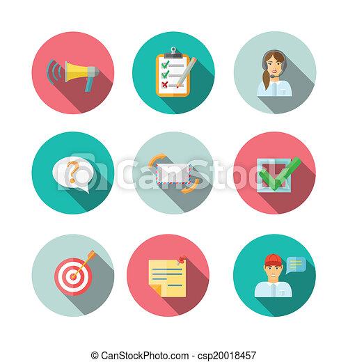 web, set, feedback, icone - csp20018457