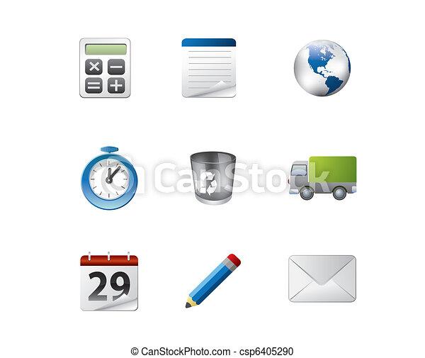 web, set, lucido, icona, domanda - csp6405290