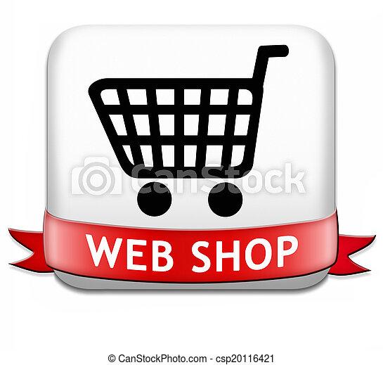 web shop button - csp20116421