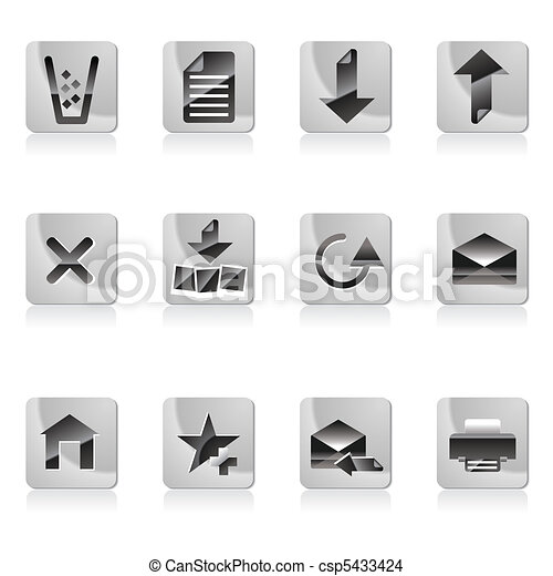 Web site and computer Icons - csp5433424