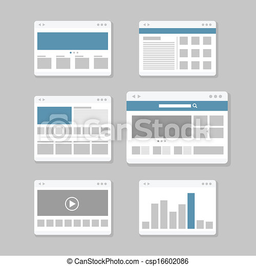 web site page templates collection - csp16602086