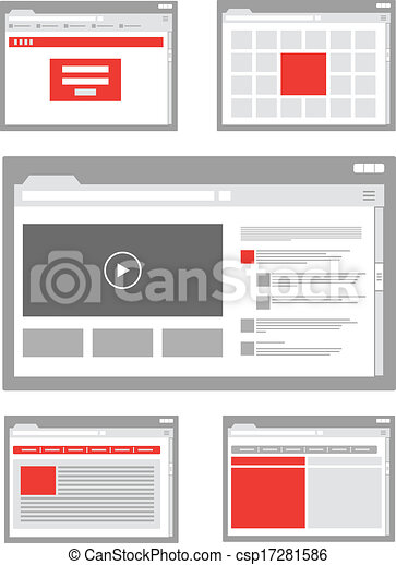 web site page templates collection - csp17281586