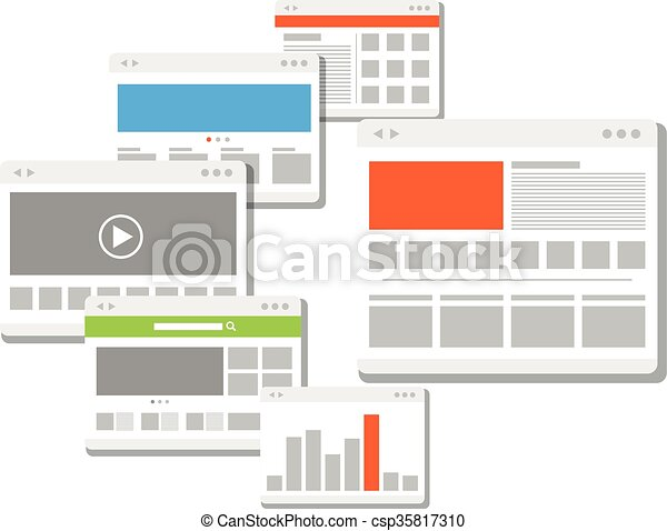web site page templates collection - csp35817310