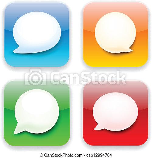 Web speech bubble app icons