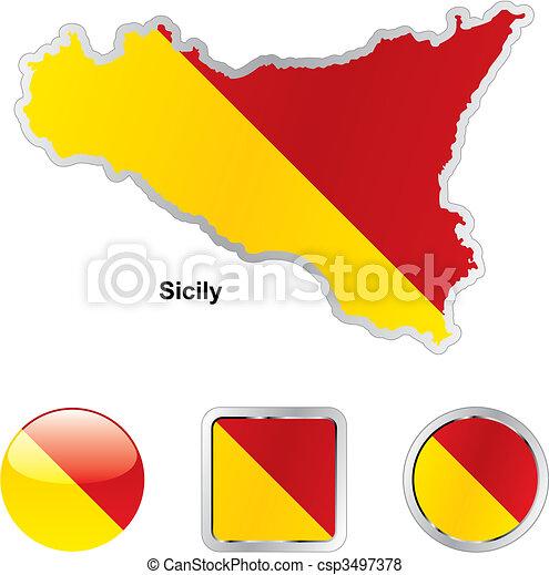 Fahne Sizilien