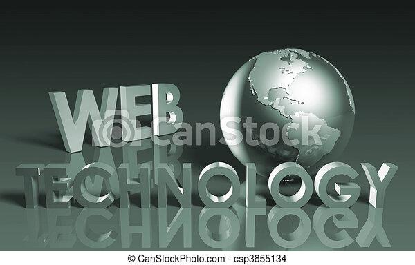 web, tecnologia - csp3855134