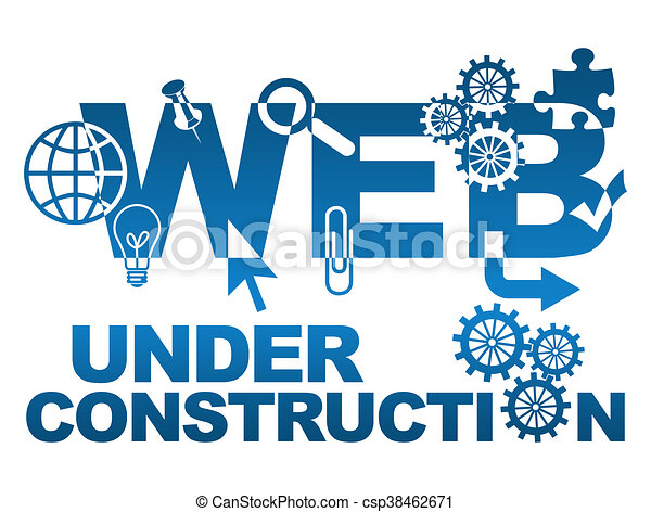Web Under Construction With Symbols