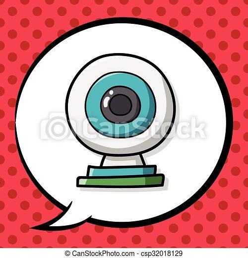 webcam doodle - csp32018129