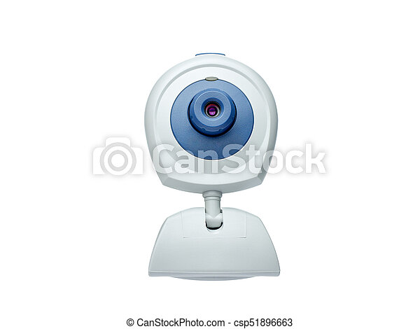 webcam front view isolated on white - csp51896663