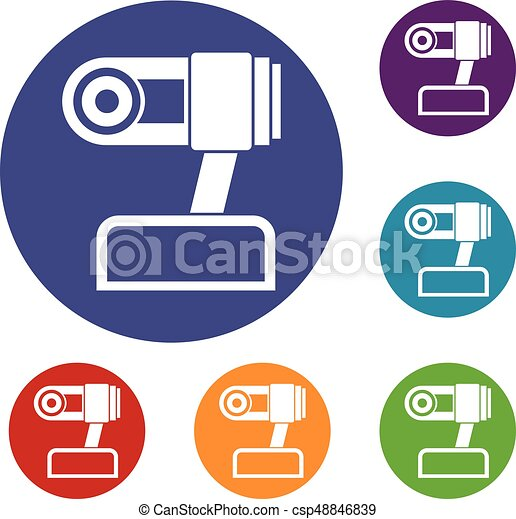 Webcam icons set - csp48846839