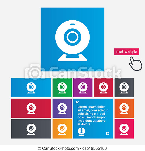 Webcam sign icon. Web video chat symbol. - csp19555180