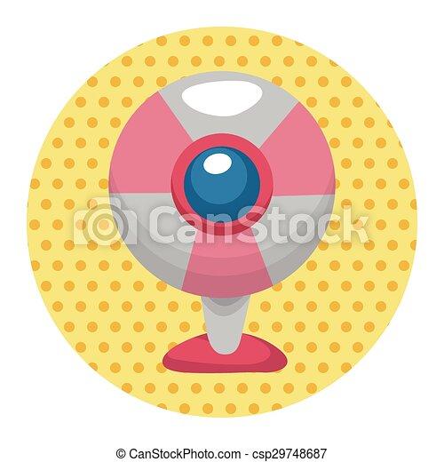webcam theme elements - csp29748687