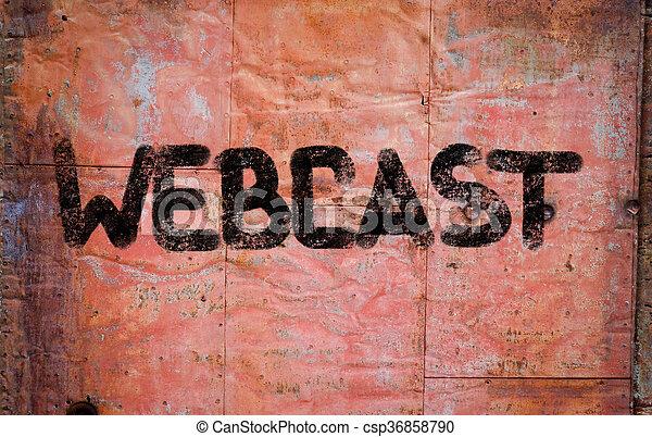 Concepto webcast - csp36858790