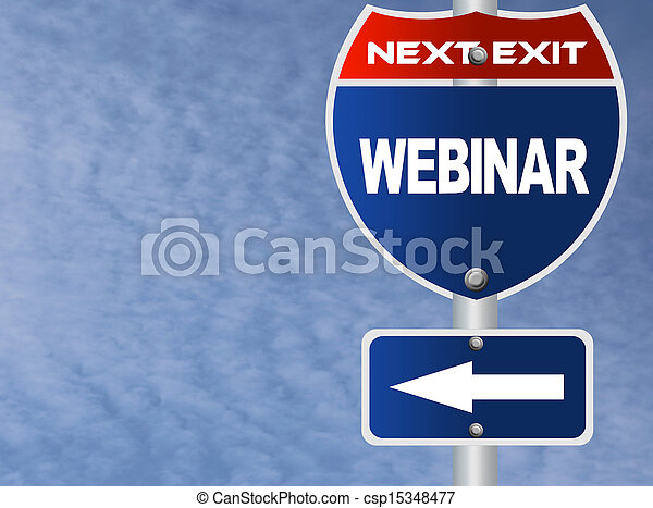 Webinar road sign  - csp15348477