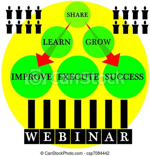 webinar success path colorful graphic webinar icon symbol
