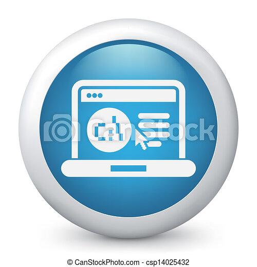 webpage, software, lingua, icona - csp14025432