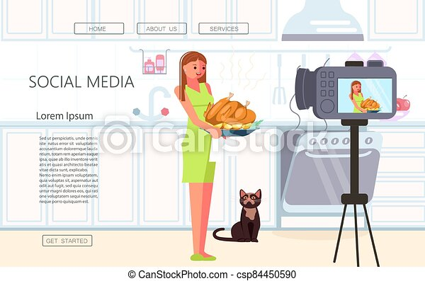 Webpage template of Vlogging - csp84450590