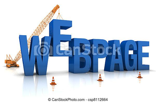 Webpage Under Construction - csp8112664