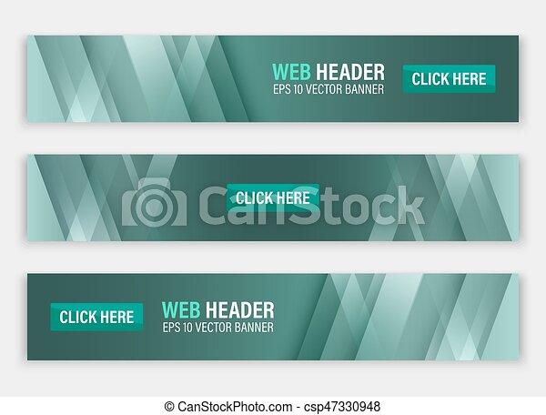 website, abstrakcyjny, header., banners., wektor, poziomy - csp47330948