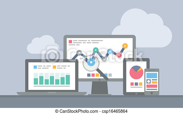 Website and mobile analytics concept - csp16465864