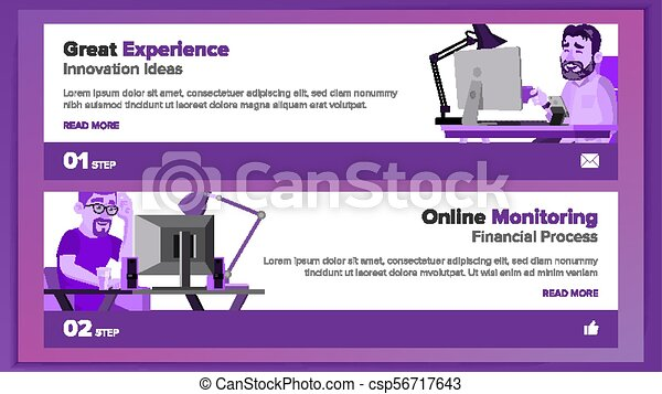 Website banners design template vector. business style. front end ...