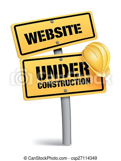 website, bau, zeichen - csp27114349