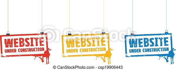Website unter Bauzeichen - csp19906443