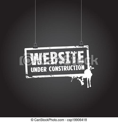 website, bau, zeichen - csp19906418