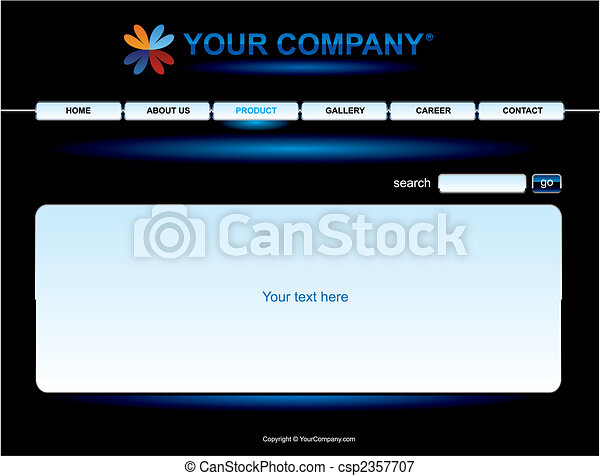 Website black button bars set template - csp2357707