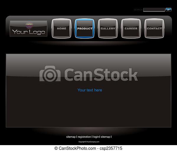 Website black vista style button bars set template - csp2357715