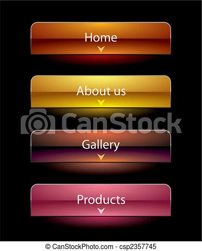 Website black vista style buttons set template - csp2357745