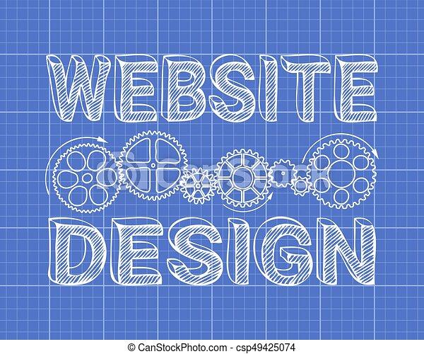 Website design blueprint website design in hand drawn vectors website design blueprint csp49425074 malvernweather Images