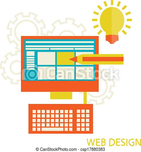 website design development - csp17880383
