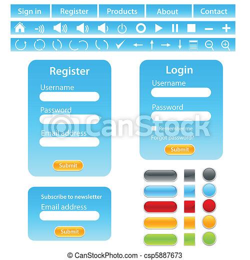 Website design template - csp5887673