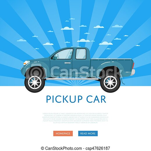 Website Design With Pickup Truck
