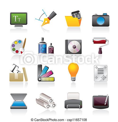 website, graphic tervezés, ikonok - csp11657108