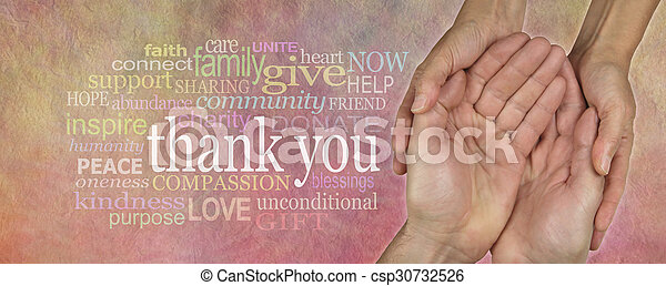Website Header saying Thank You - csp30732526