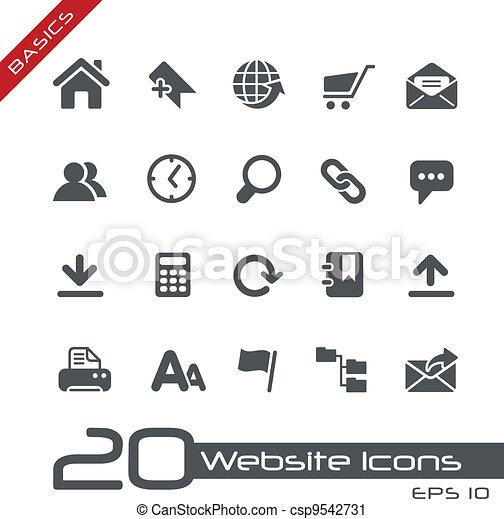 Website Icons // Basics - csp9542731