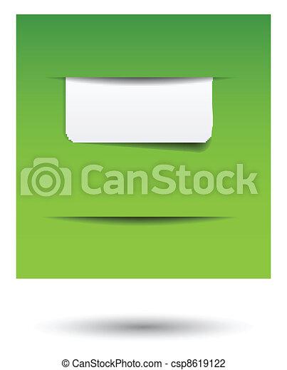 website menu tabs - csp8619122