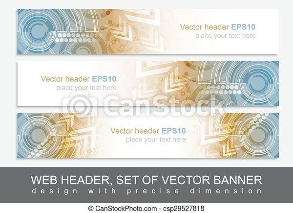 website, muster, abstrakt, kopfsprung, technologisch, banner, oder - csp29527818