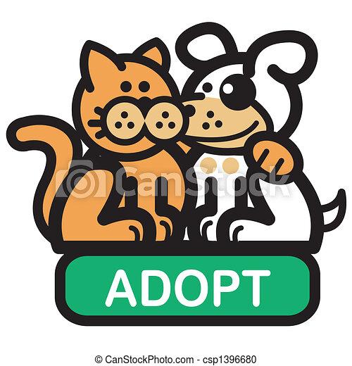 Website Navigation Button Dog Cat - csp1396680