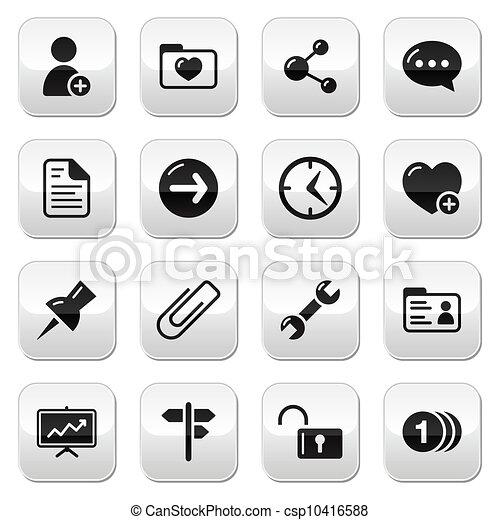 Website navigation buttons set - csp10416588