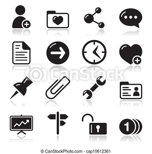 Website navigation icons set - csp10612361